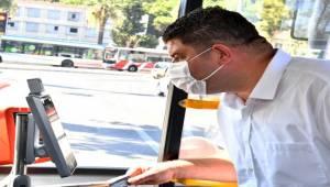 """Virüssavar """"güvenli otobüs"""" İzmirlilerin hizmetinde"""