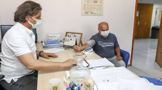 Buca'da belediye çalışanlarına sağlık taraması