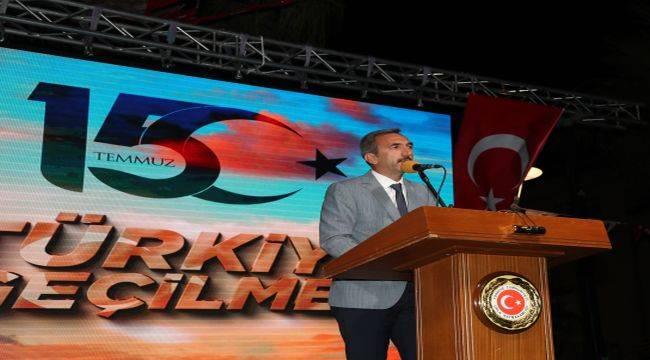 Urla'da 15 Temmuz Demokrasi Ve Milli Birlik Günü Anma Programı